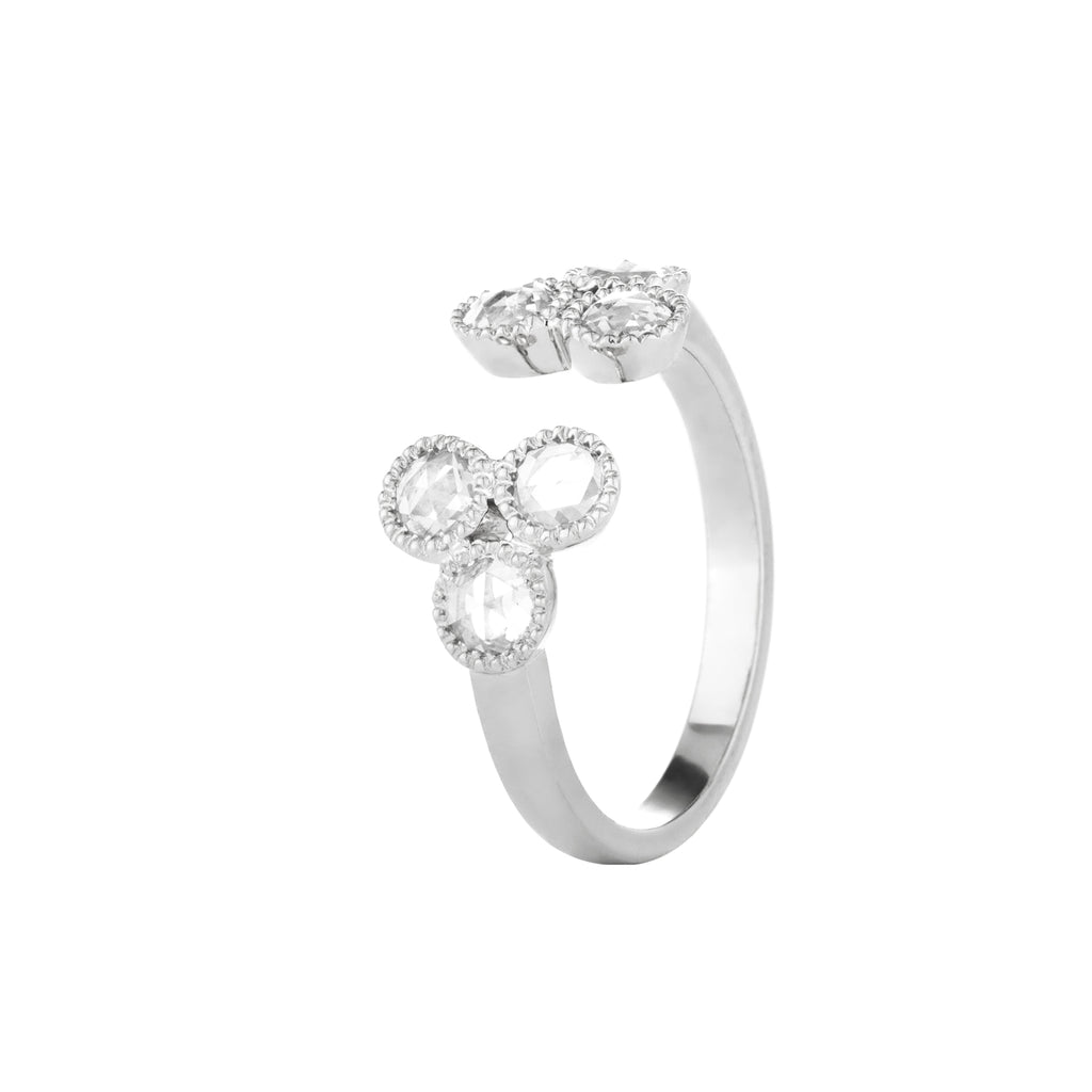 Grace Rose Cut Diamond White Gold Ring
