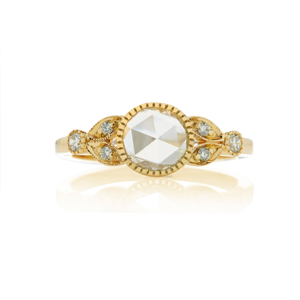 Evelyne Rose Cut Diamond Yellow Gold Ring