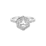 Aster Rose Cut Diamond White Gold Ring