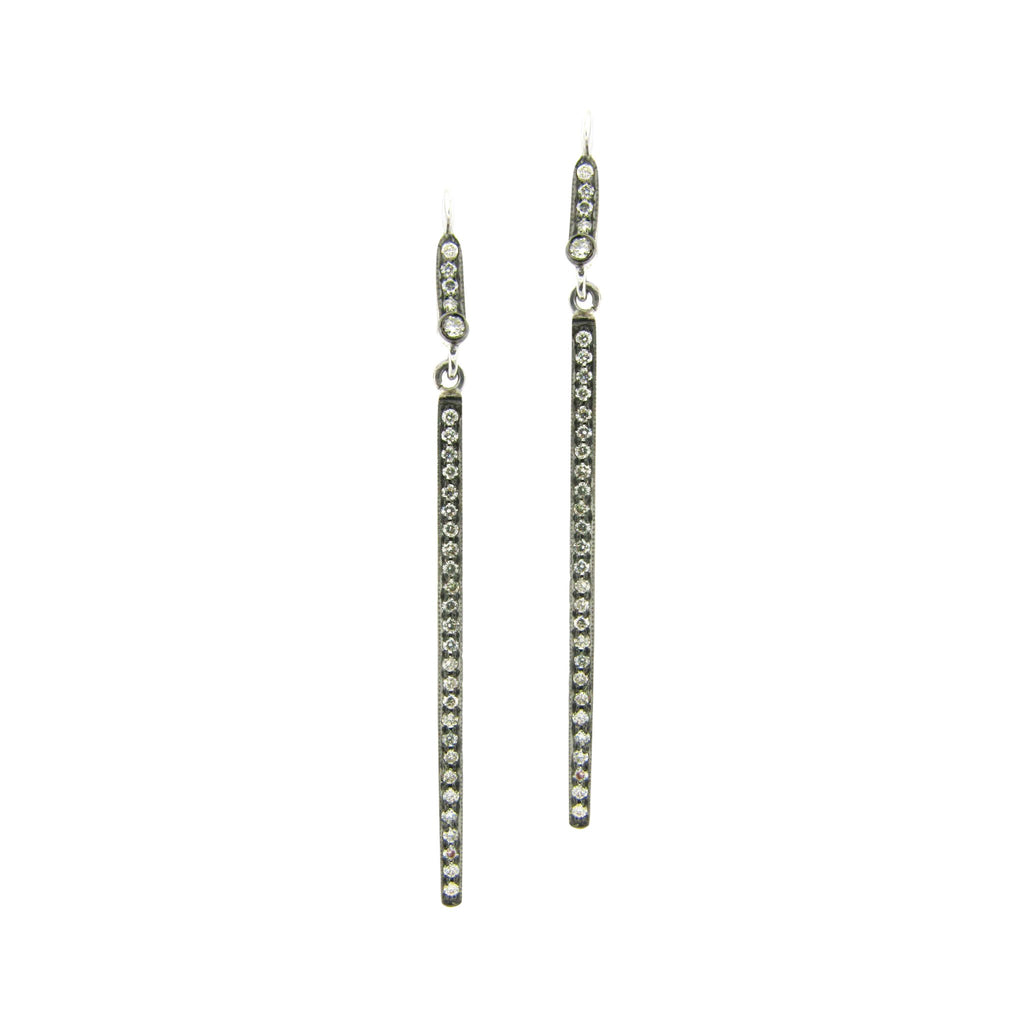 The Alice Earrings 18K Black Gold