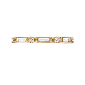Lucy Baguette and Round Diamond Band