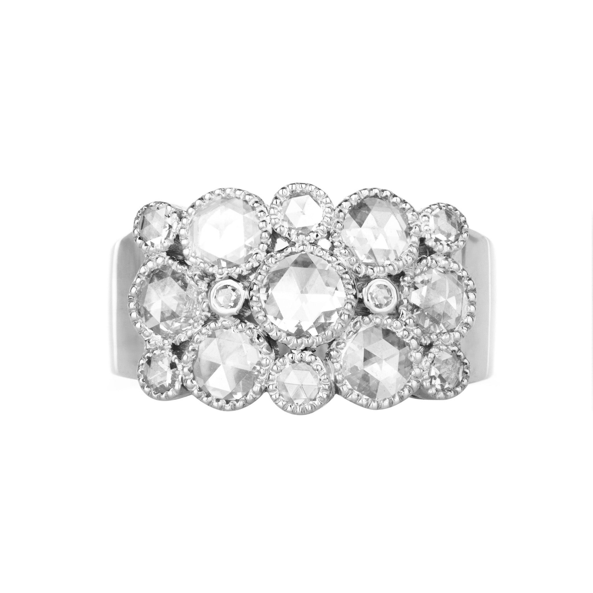 Josephine Rose Cut Diamond White Gold Ring