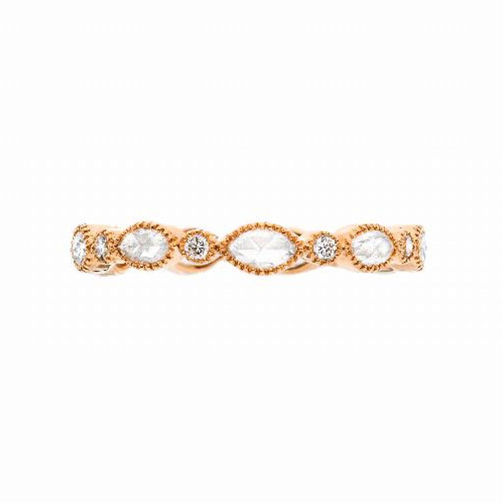 Amara Marquise Rose Cut Diamond Band
