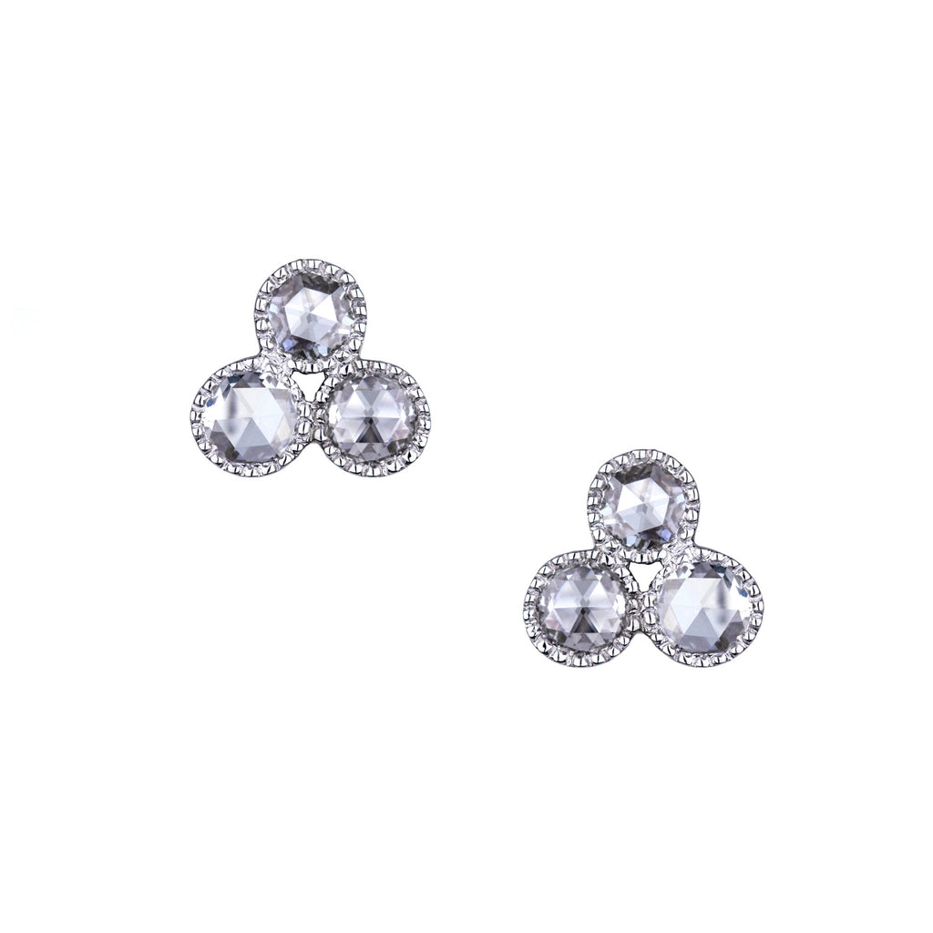 The Grace Earrings 18K White Gold