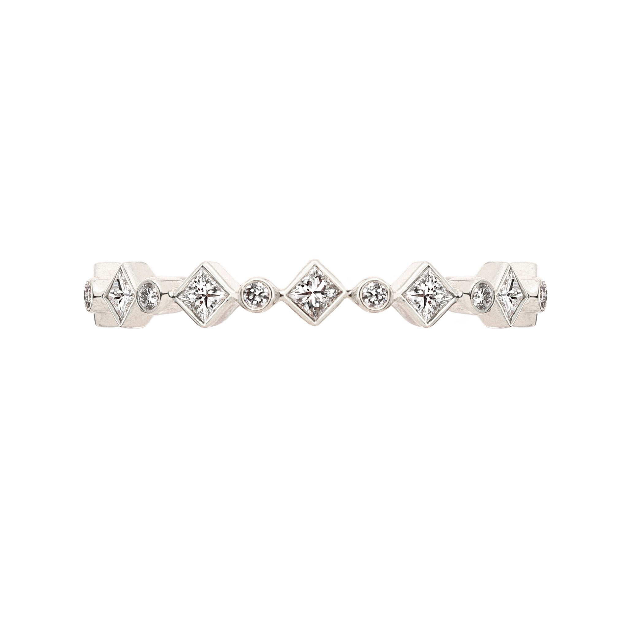 Catherine Princess Cut Diamond Band
