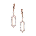 The Kerri Earrings - White and Rose