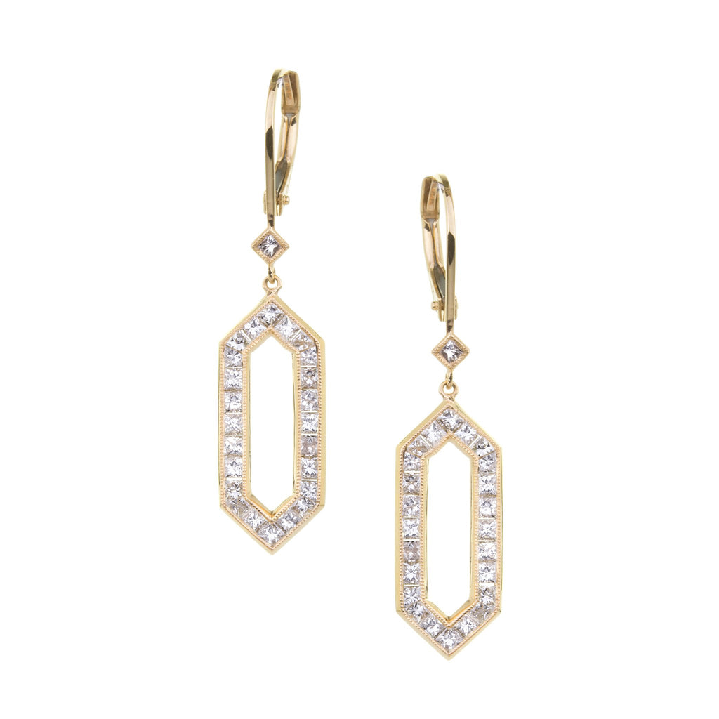 The Kerri Earrings - White and Gold