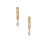 The Isa Earrings - White and Gold