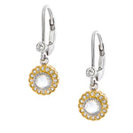 The True Romance Single Drop Earrings - White and Gold