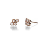 Lillian Rose Cut Diamond Cluster Stud Earrings