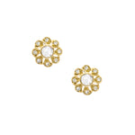 Flora Rose Cut Diamond Stud Earrings