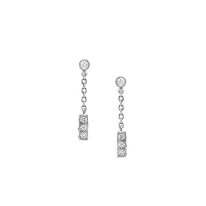 The Barrel Earrings - White