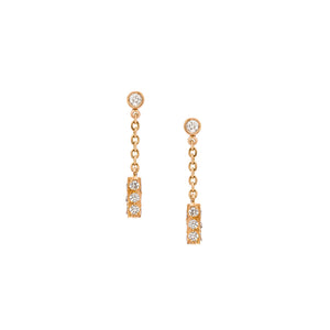 The Barrel Earrings - White and Rose