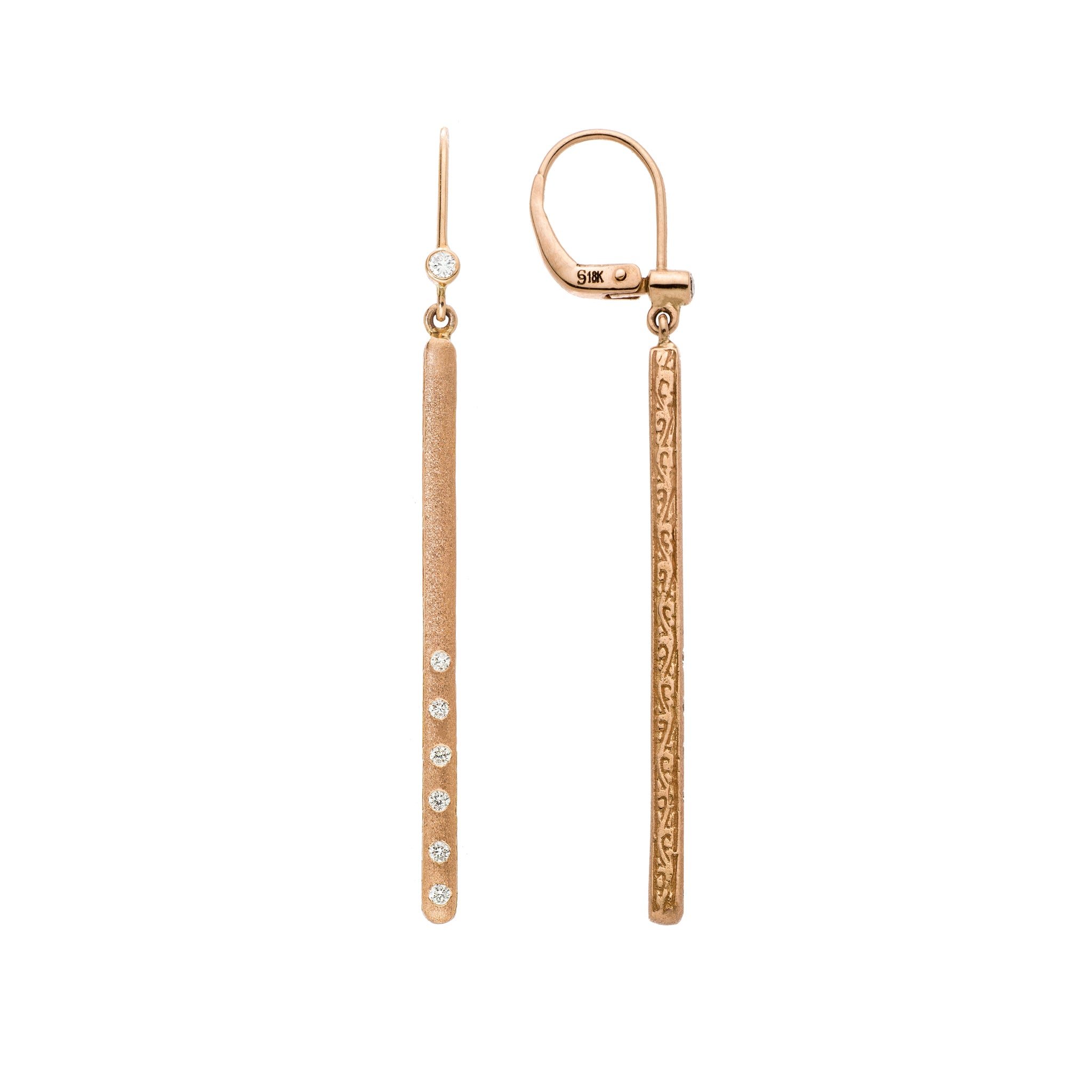 Dunes Bar Diamond Earrings