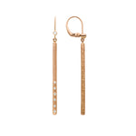 The Dunes Bar Earrings - White and Rose
