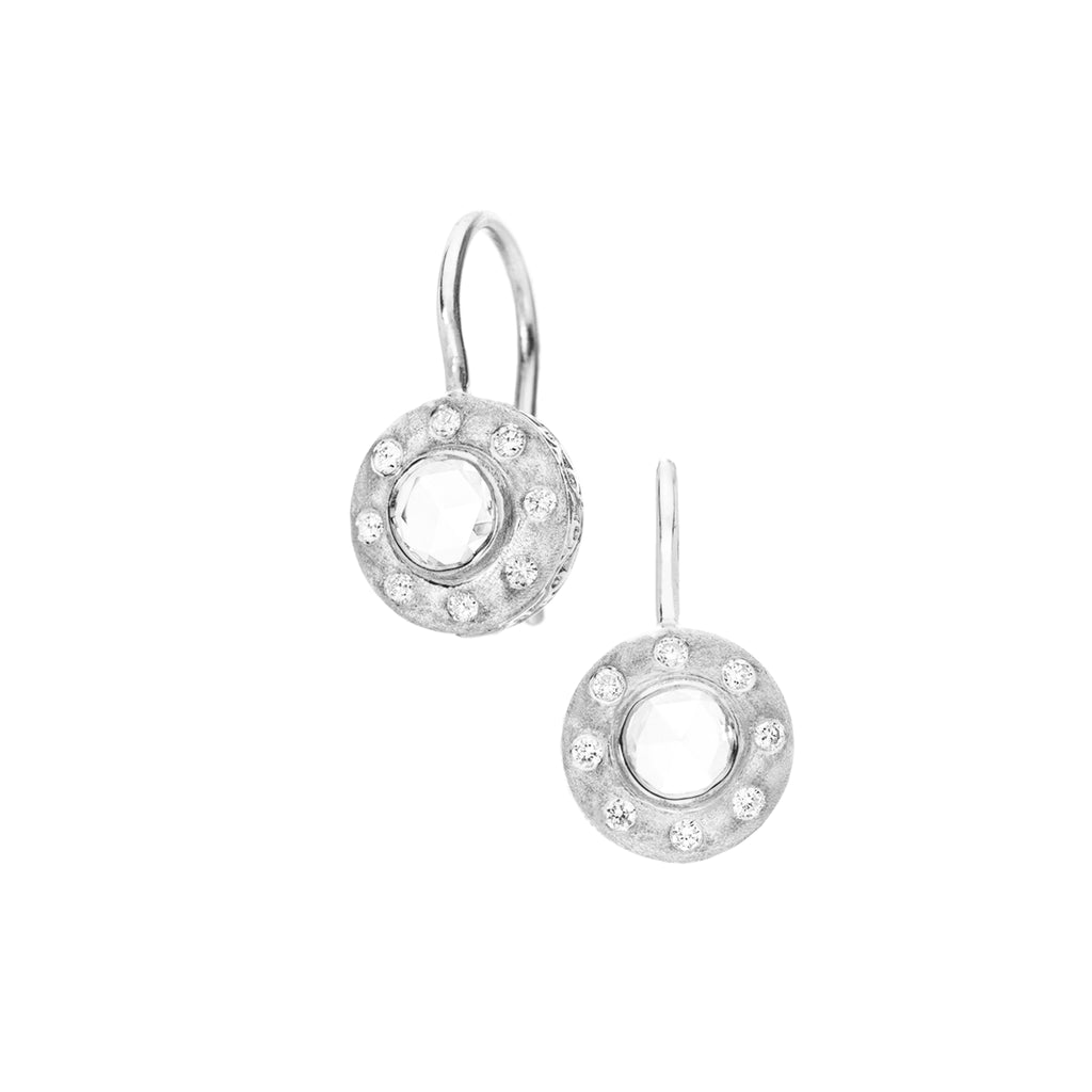 The Dunes Classic Drop Earrings - White