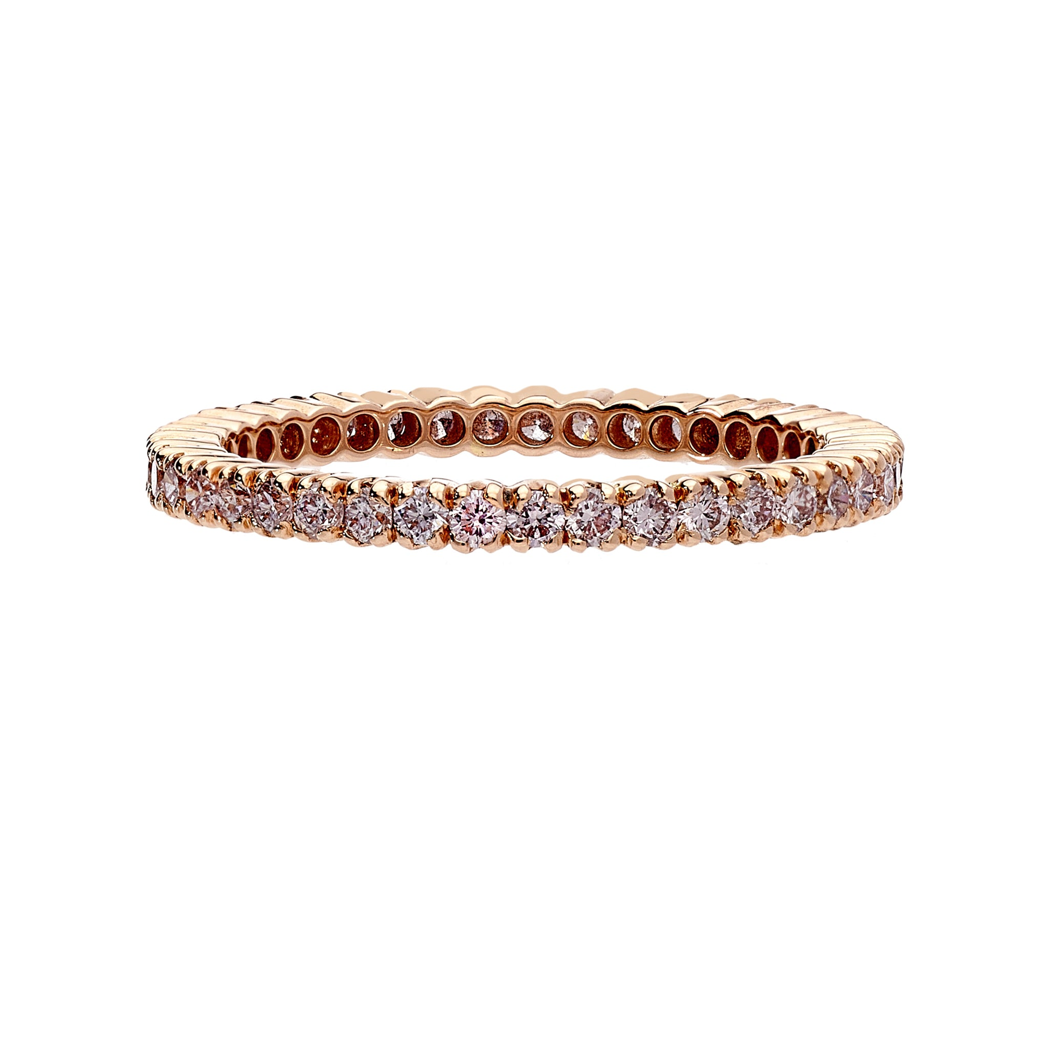 Prong Pink Diamond Band