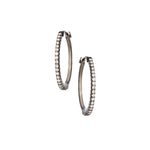 The Simple Elegance Small Hoops - White and Black Gold