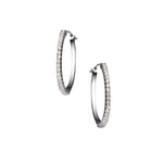 The Simple Elegance Small Hoops 18K White Gold