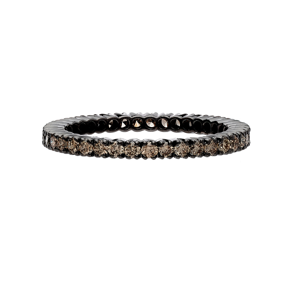 Prong Champagne Diamond Band
