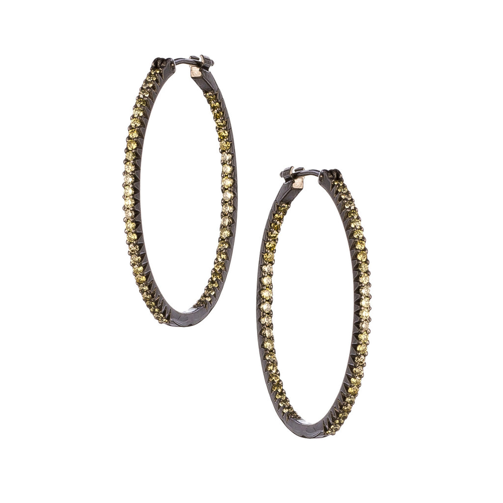The Simple Elegance Medium Hoops - Green
