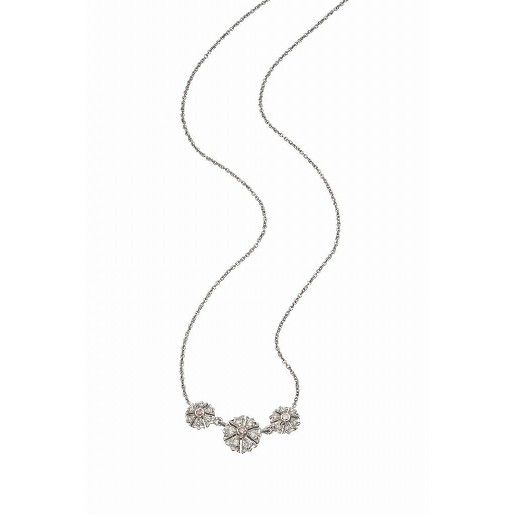 The Camelia 3 Station Necklace