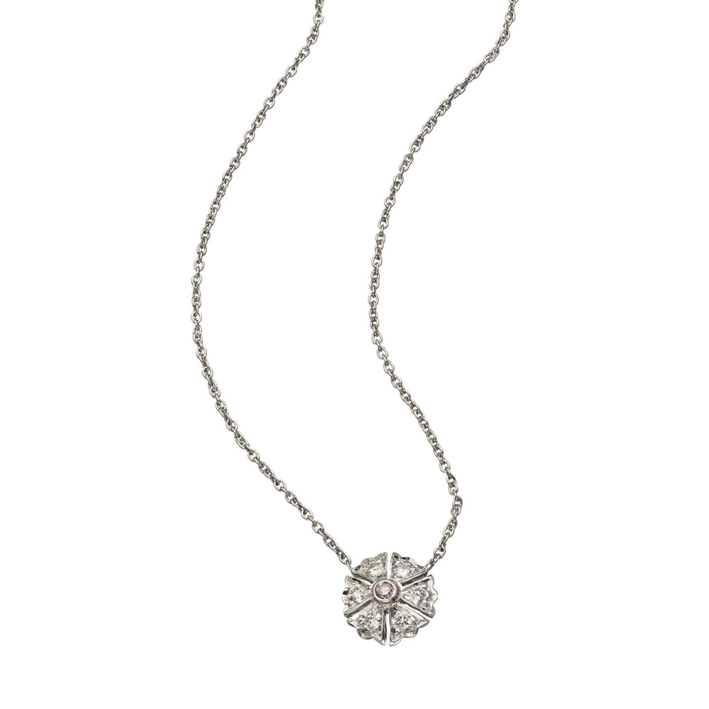 The Camelia Necklace - White