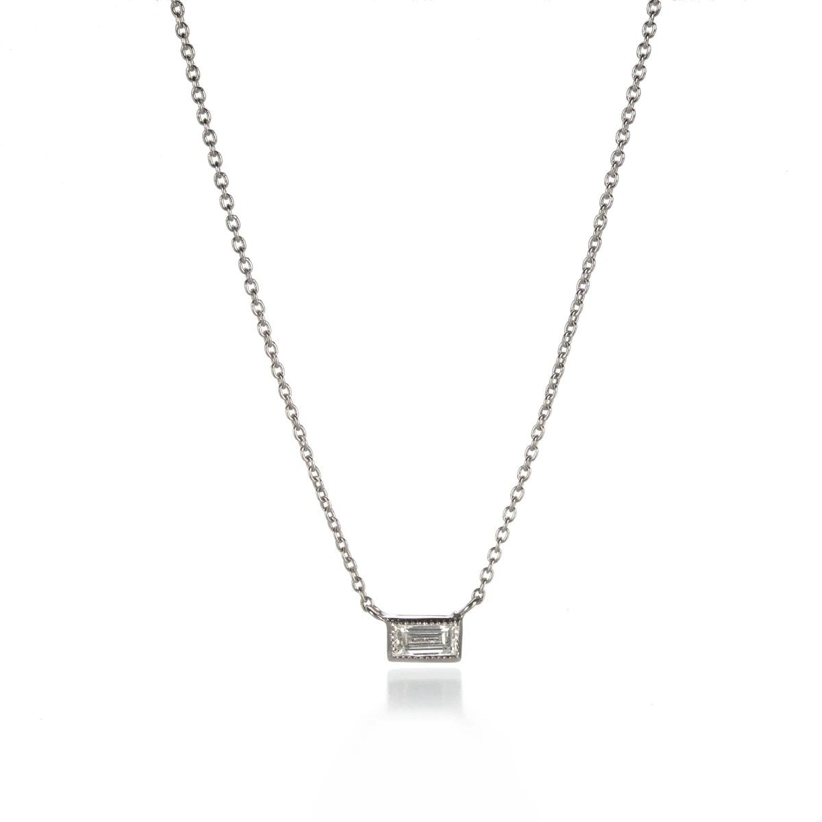 The Silhouette Necklace Single Stone