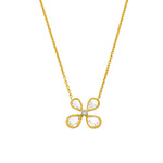 The Fine Vine Necklace - White and Gold