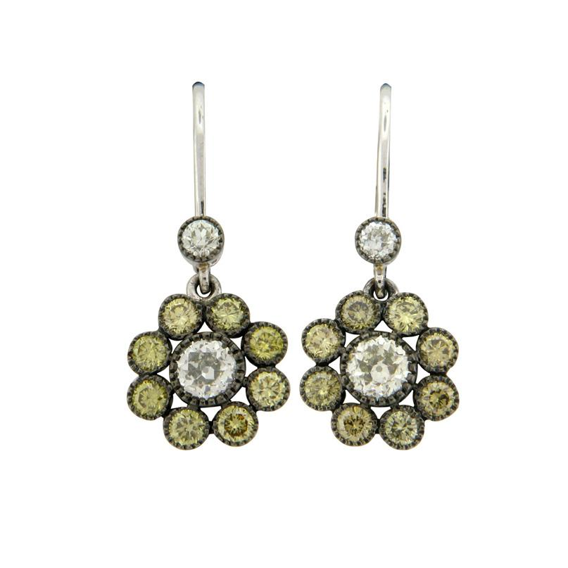 The Cluster Drop Earrings