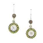 The True Romance Single Drop Earrings - Green