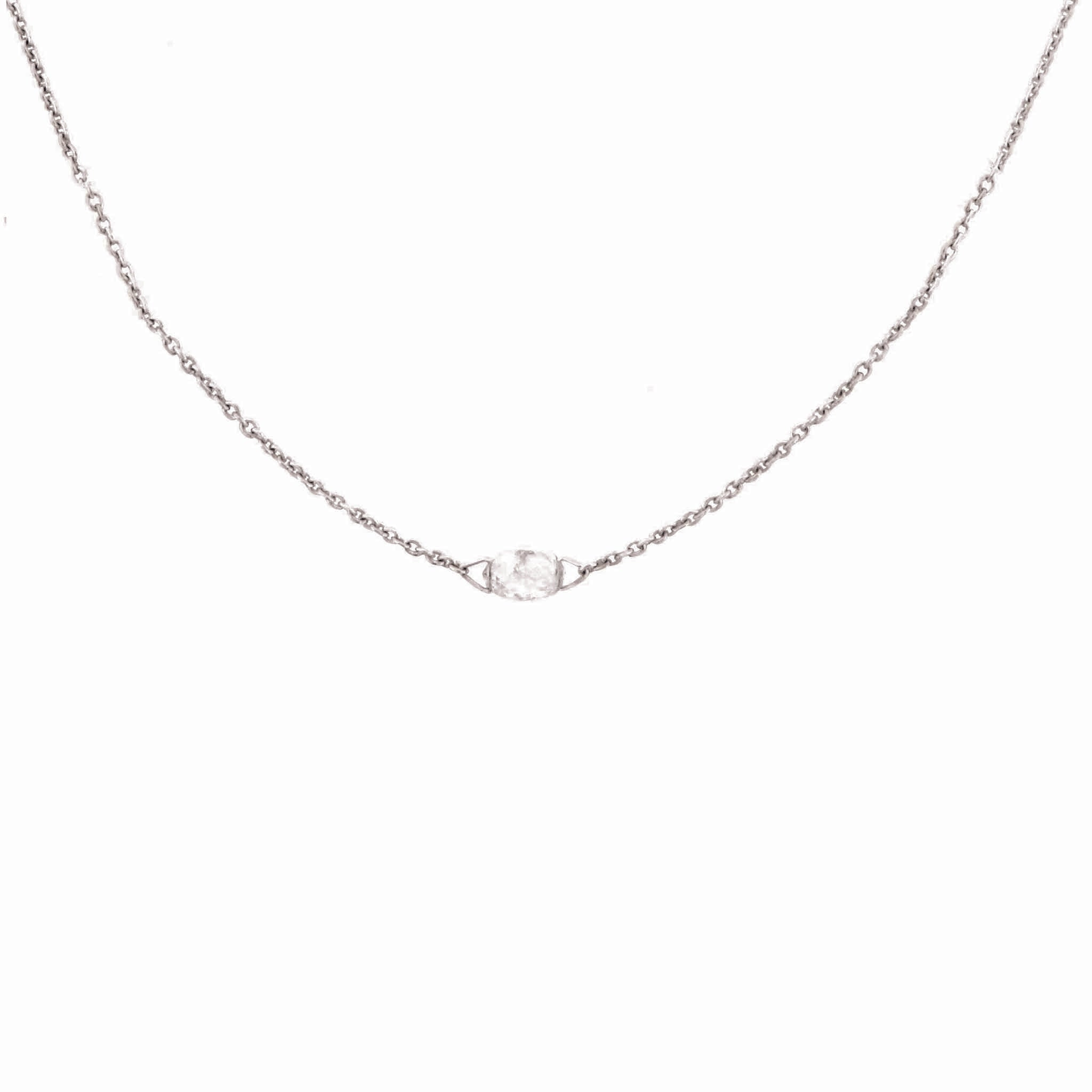 Single Briolette Diamond Necklace