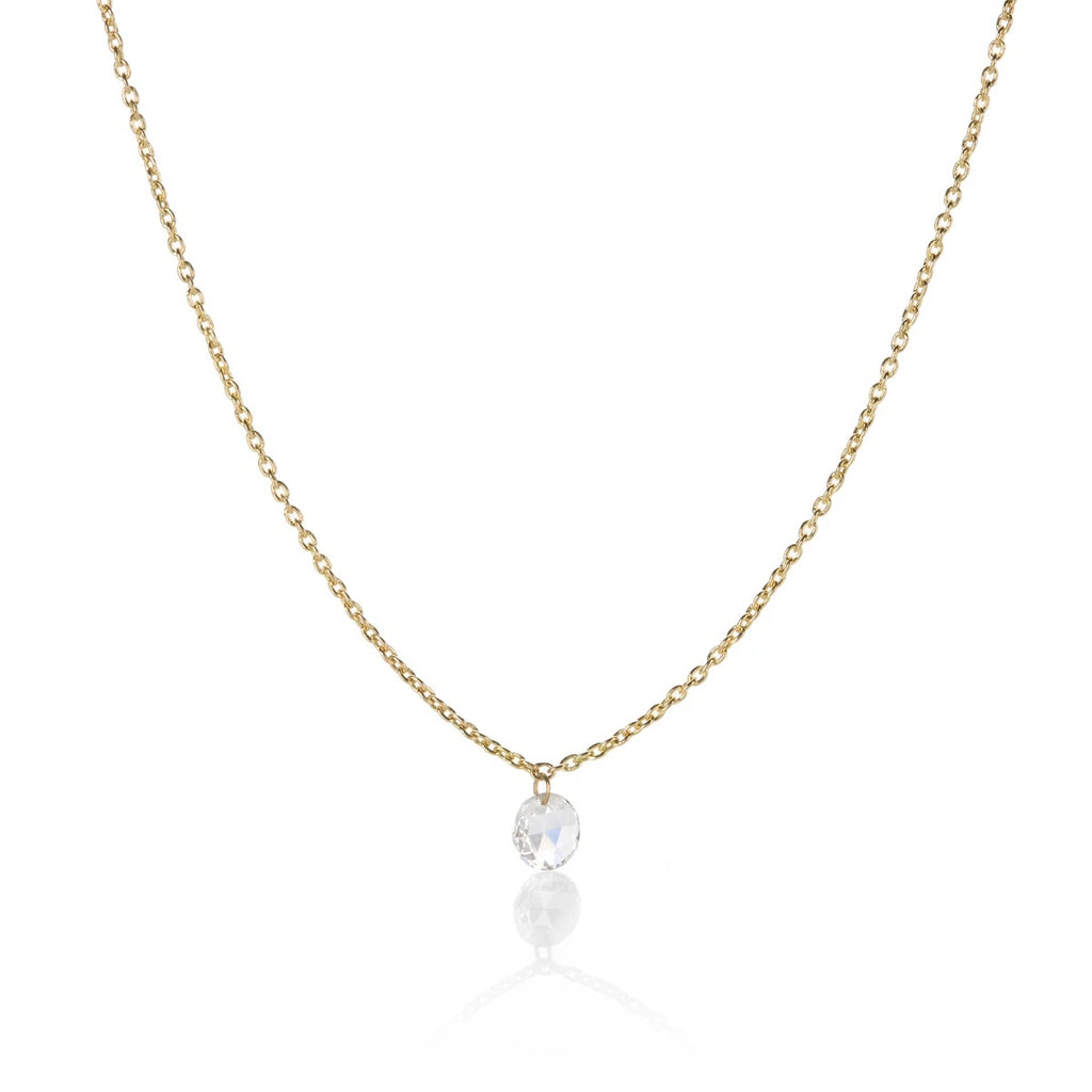 Cien Rose Cut Diamond Necklace