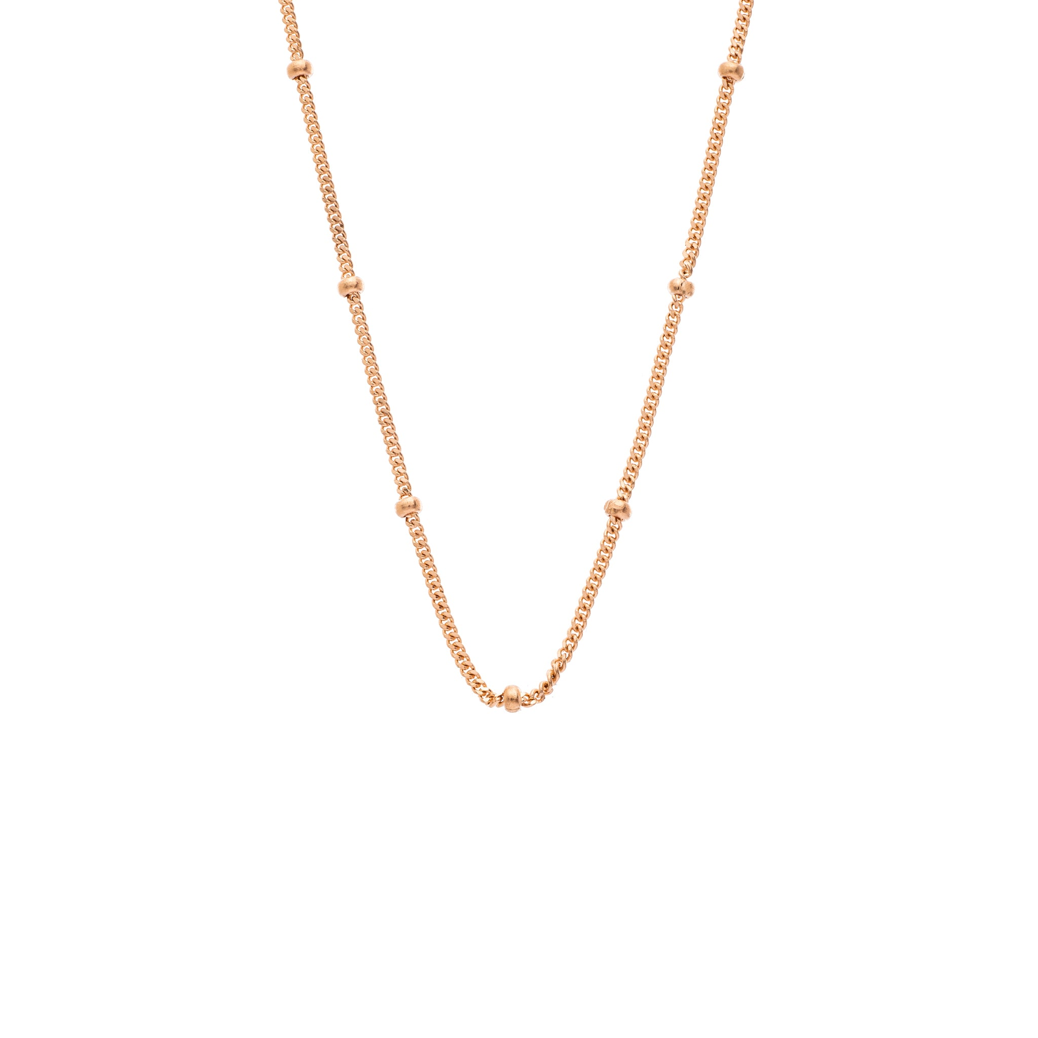 The Bead Chain 18K Rose Gold