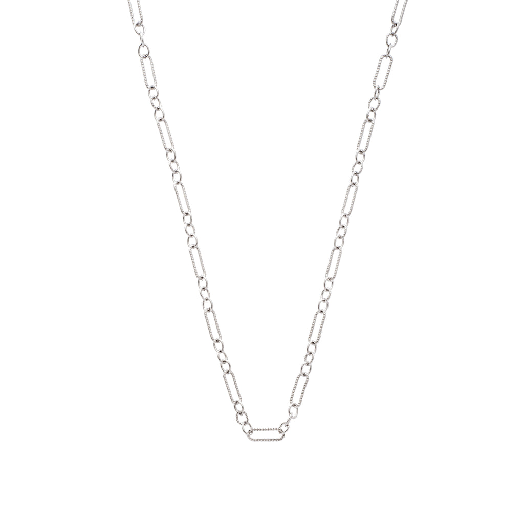 The Figaro Chain 18K White Gold
