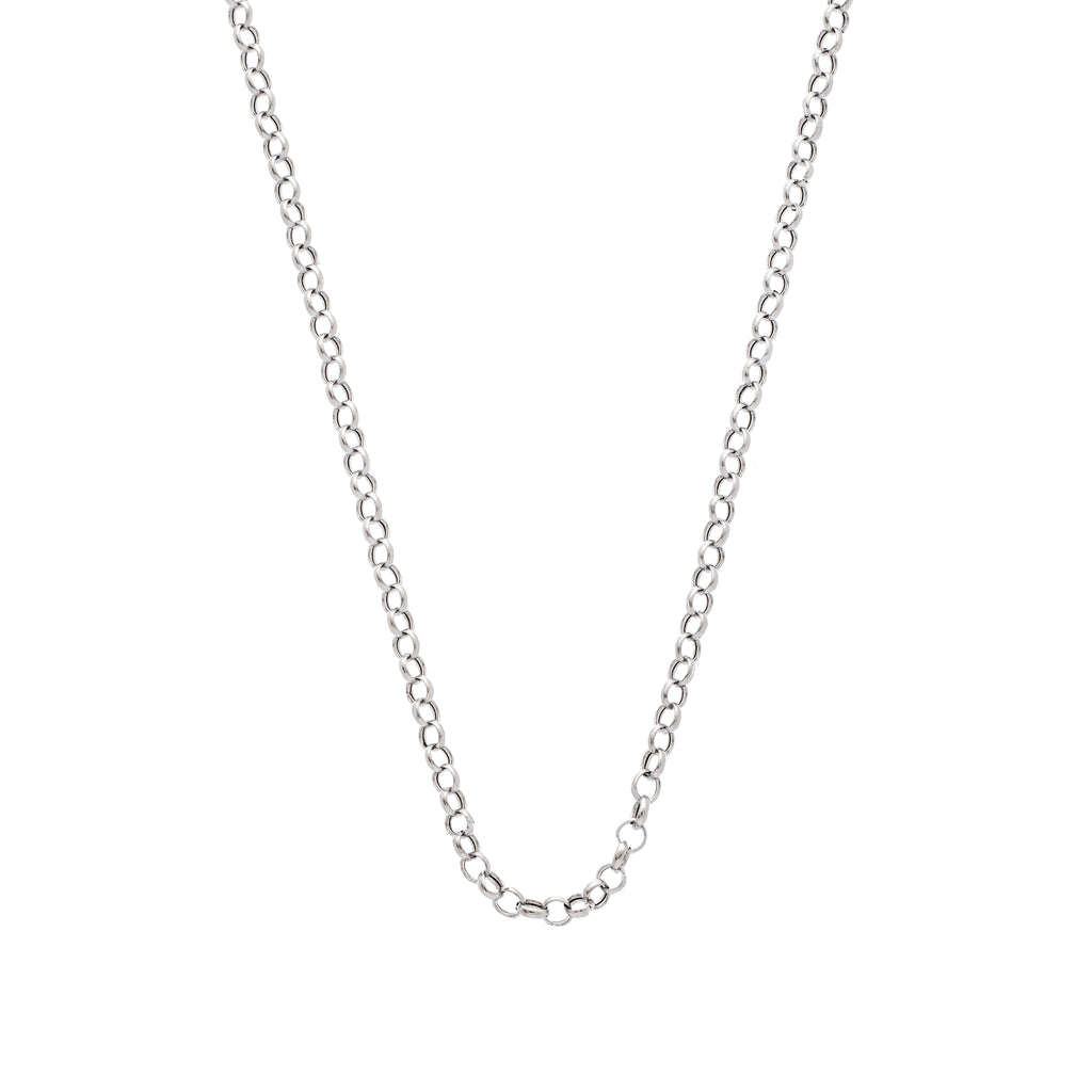 The Rolo Chain 14K White Gold