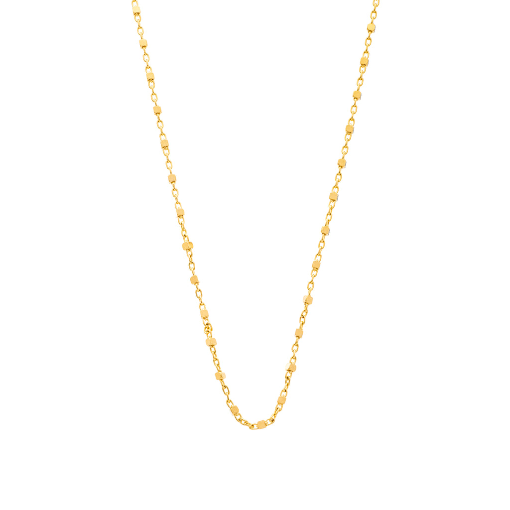 The Cube Chain 18K Yellow Gold