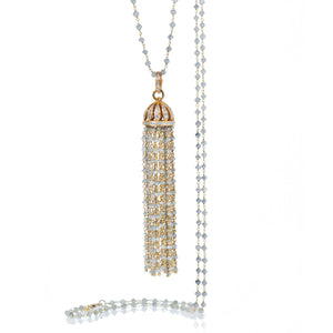 Tassle Gray Diamond Necklace