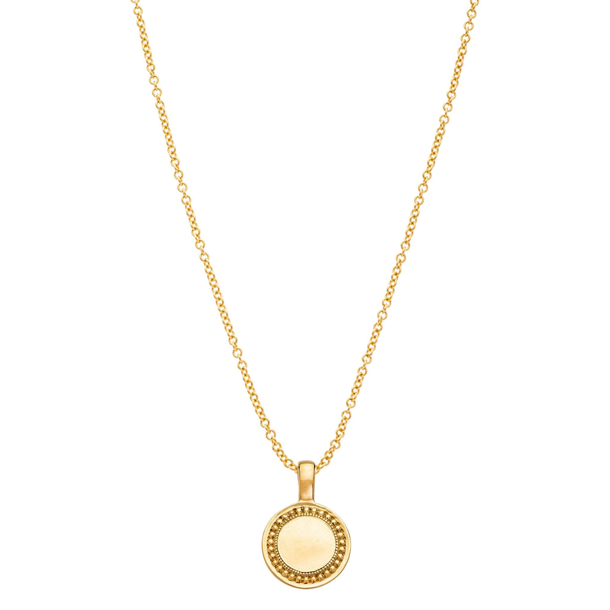 The P.S. Round Charm with Oval Link Chain