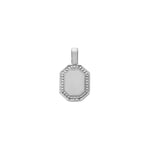 The PS Tag Charm Small 18K White Gold