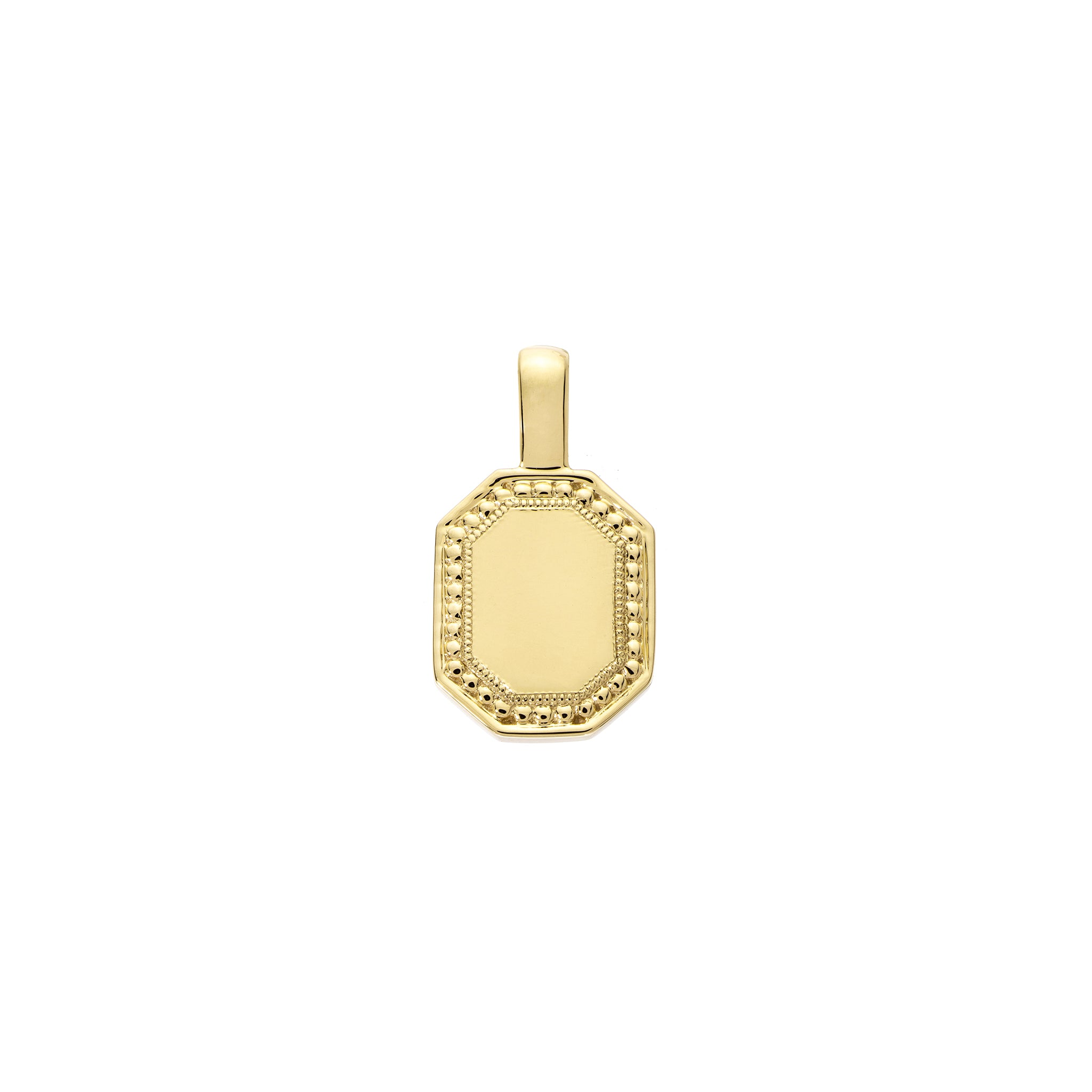The PS Tag Charm Small 18K Yellow Gold