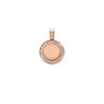 P.S. Small Rose Gold Round Charm with Diamonds