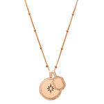 P.S. Celeste Rose Gold Round and Tag Charm on Bead Chain