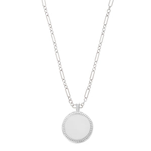 The P.S. Round Charm with Figaro Chain