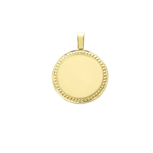 The PS Round Charm Large 18K Yellow Gold