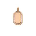 The PS Tag Charm Large with Diamonds 18K Rose Gold