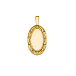 The P.S. Oval Charm with Diamonds