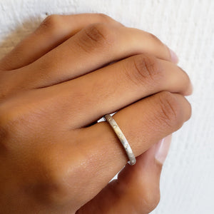 Dunes Narrow Diamond Brushed Band