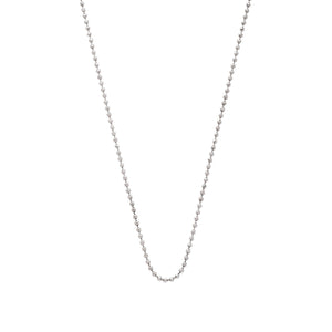 The Ball Chain 18K White Gold
