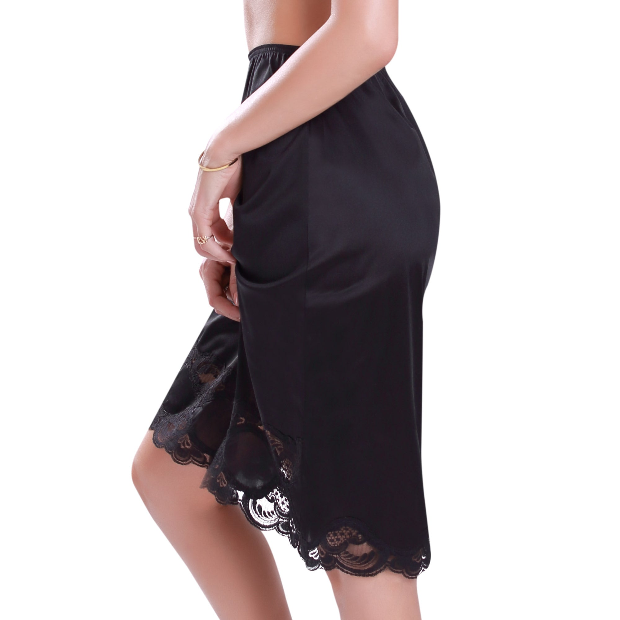 Long Lace Trim Skirt Slip 1817